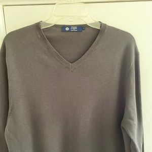 J.Crew Men's 100% Cotton gray V-neck sweater sz L